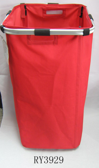 Double Laundry Hamper Bag with Handle Easily Transport Foldable Large Laundry Basket