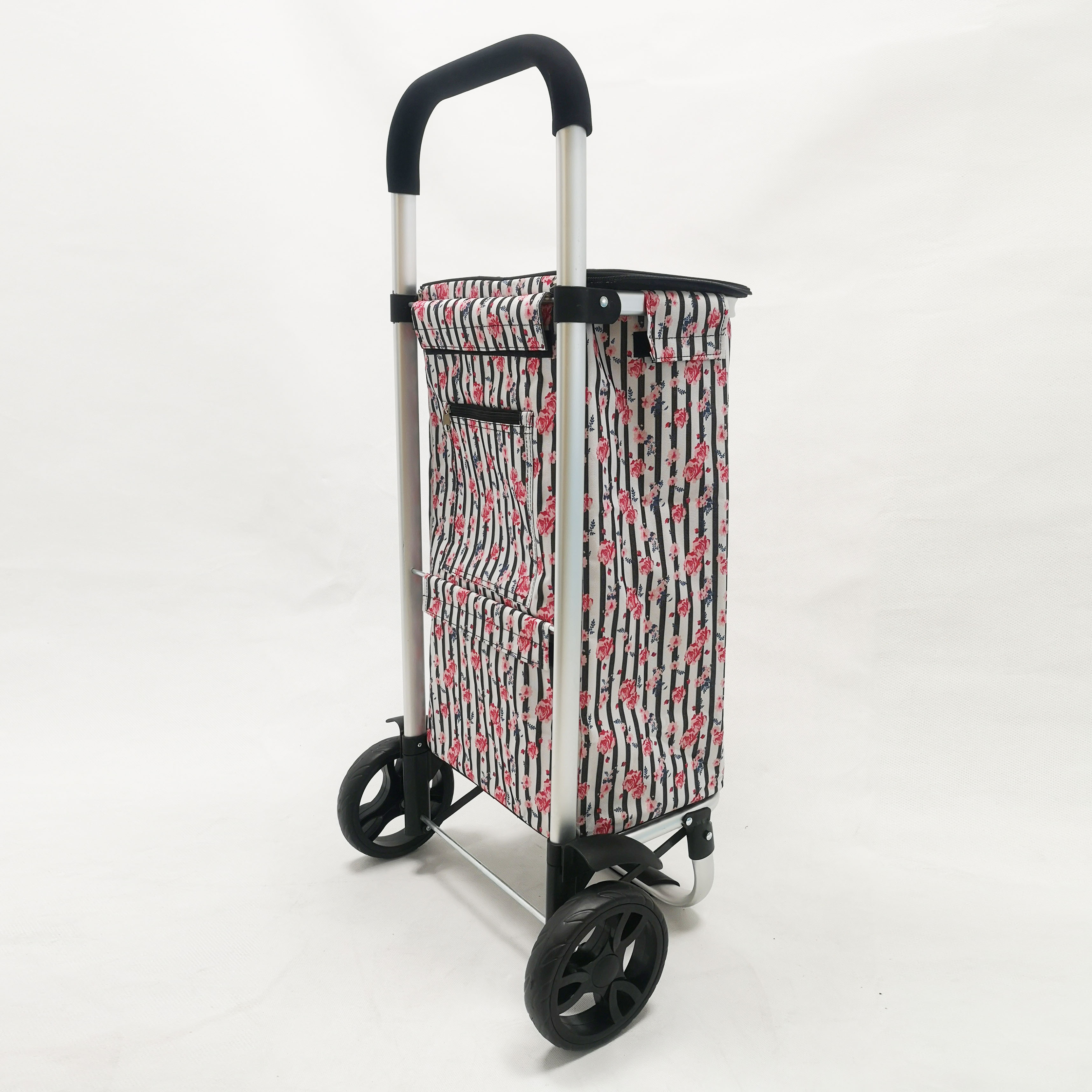 Sunshine Euro Shopping Tote Cart W/Fabric Bag, Foldable, Aluminum Frame Trolley Luggage