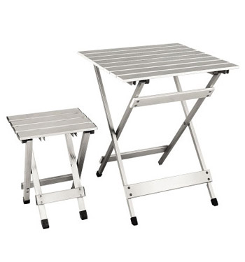Low Price Aluminum Folding Table And Chair, Camping Table, Picnic Table for Outdoor Use