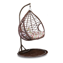 Outdoor Swing Rattan Wicker Chair Hanging Basket Egg Shaped Swing Chair Hanging Chair